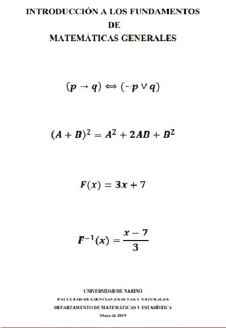 Introducción a los fundamentos de Matemáticas Generales