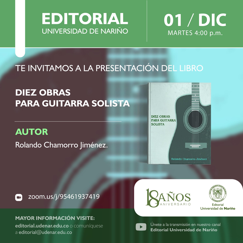 """Lanzamiento libro """"Diez obras para guitarra solista"""""""