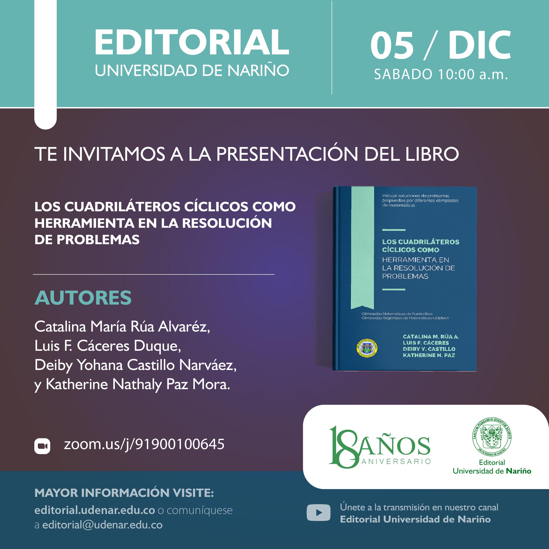 """Lanzamiento libro: """"Los cuadriláteros cíclicos como herramienta en la resolución de problemas"""""""