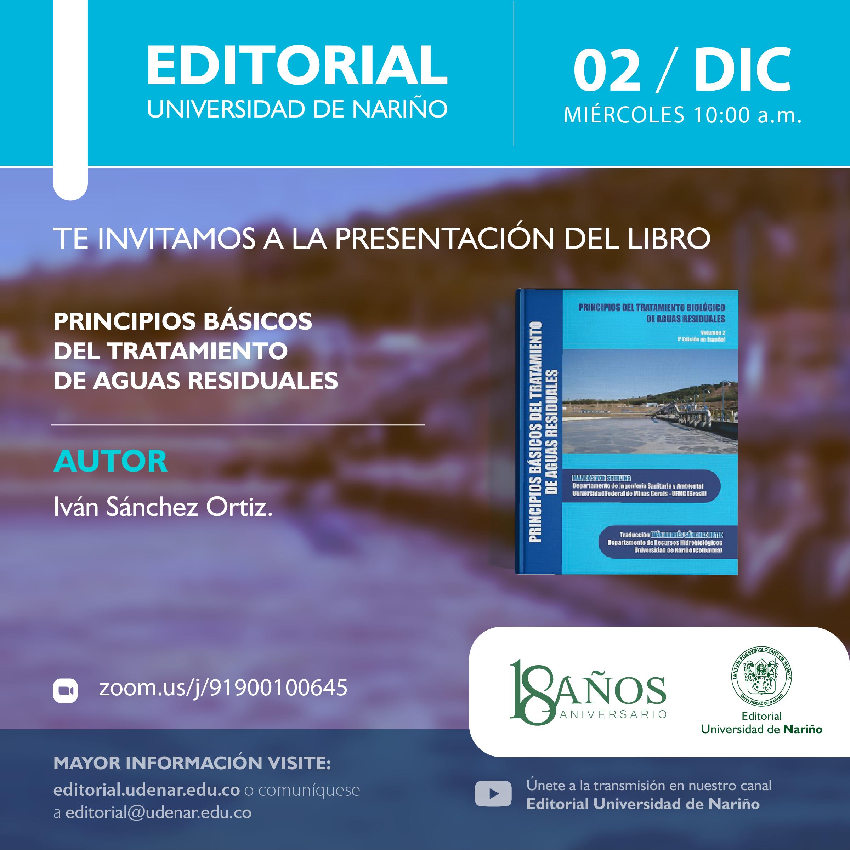 """Lanzamiento libro: """"Principios básicos del tratamiento de aguas residuales"""""""