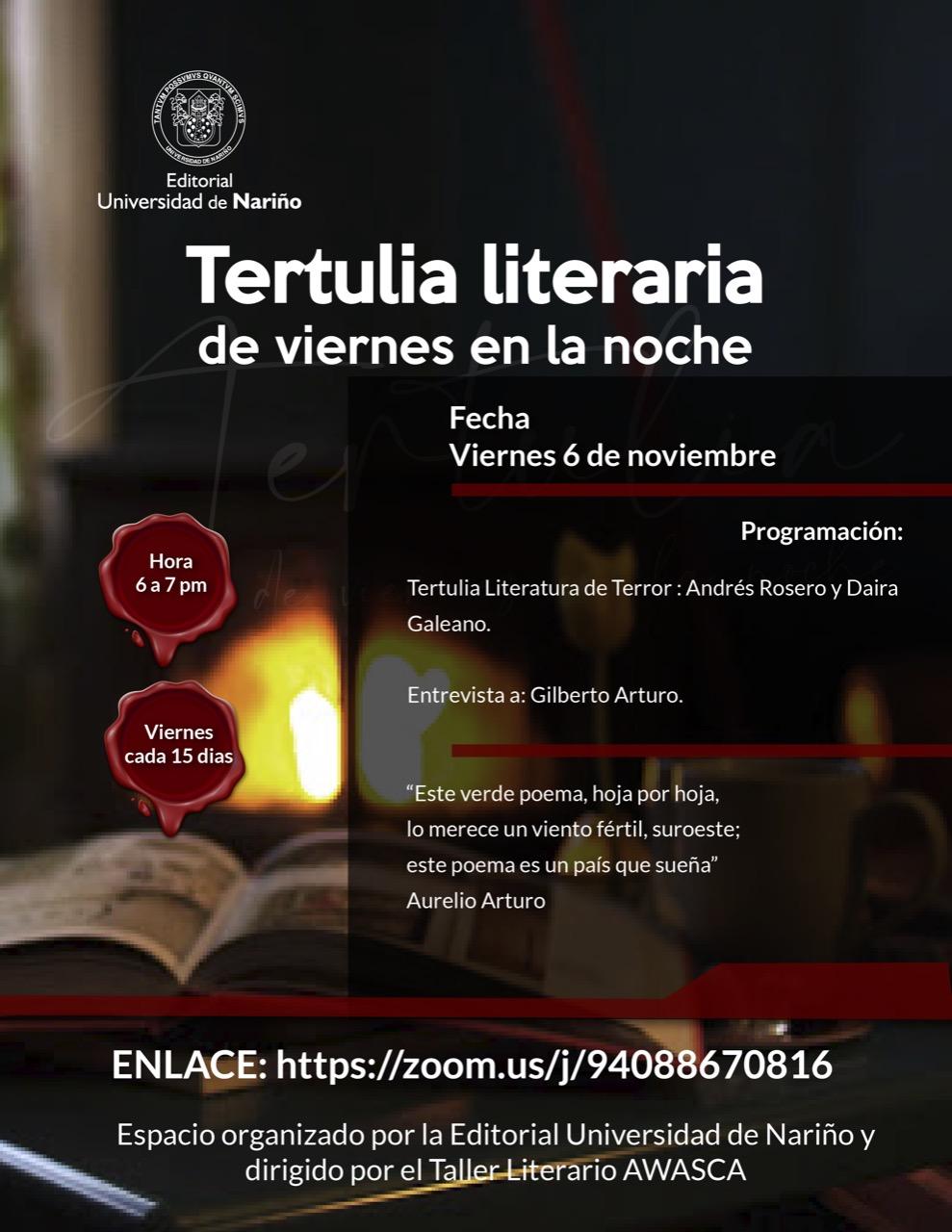 Tertulia literaria de viernes en la noche: Tertulia literaria de terror