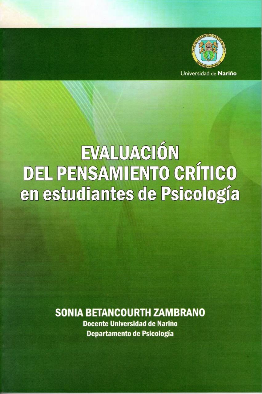 Evaluación del pensamiento crítico en estudiantes de psicología de la Universidad de Nariño