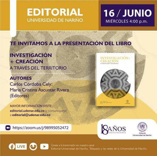 ¡Lanzamientos Editorial Universidad de Nariño!