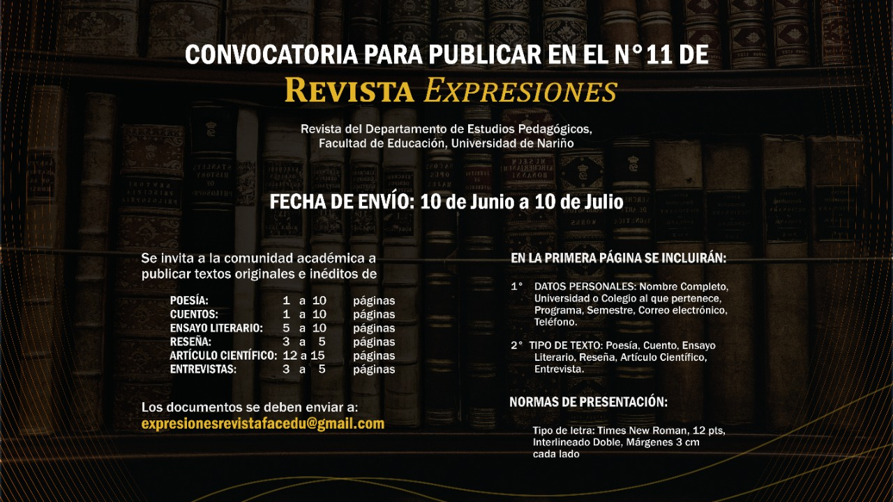 Convocatoria número 11 Revista Expresiones